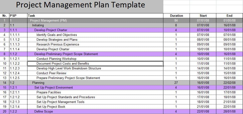 Project Management Plan Template Download Project Management