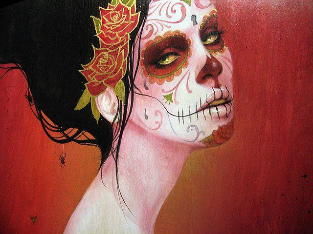 Sugar skull make-up. #sugarskull
