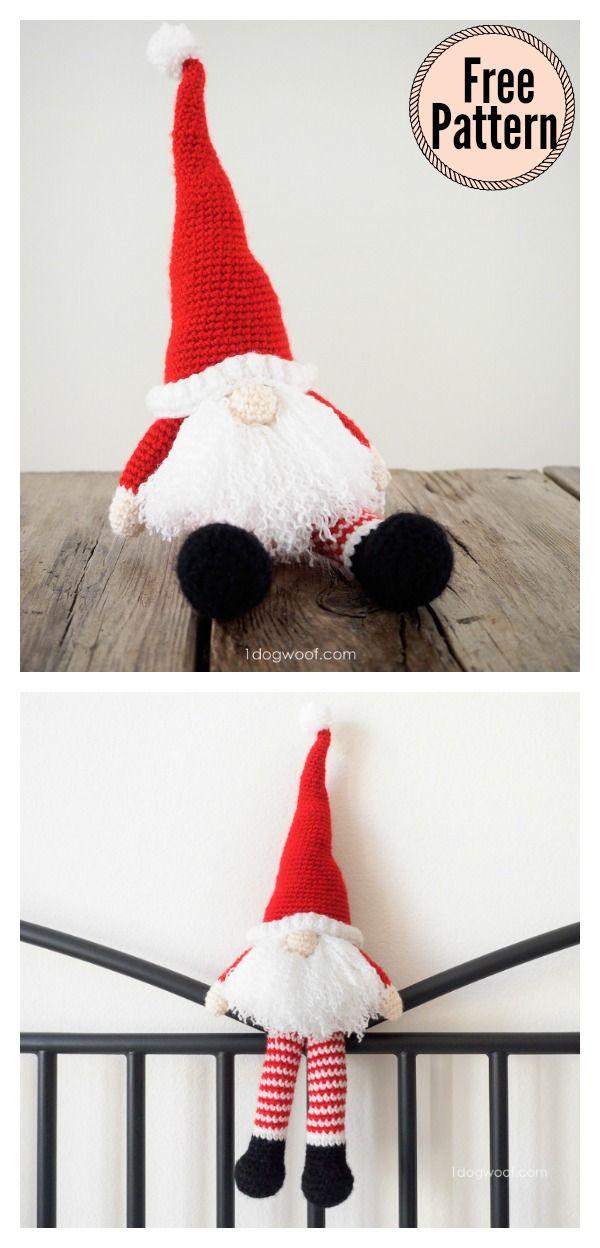 Amigurumi Christmas Gnome Crochet Pattern | Navidad, Ideas de ...