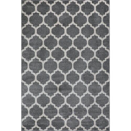 Flachgewebe-Teppich Didonato in Dunkelgrau/Beige Fairmont Park Teppichgröße: Läufer 80 x 250 cm