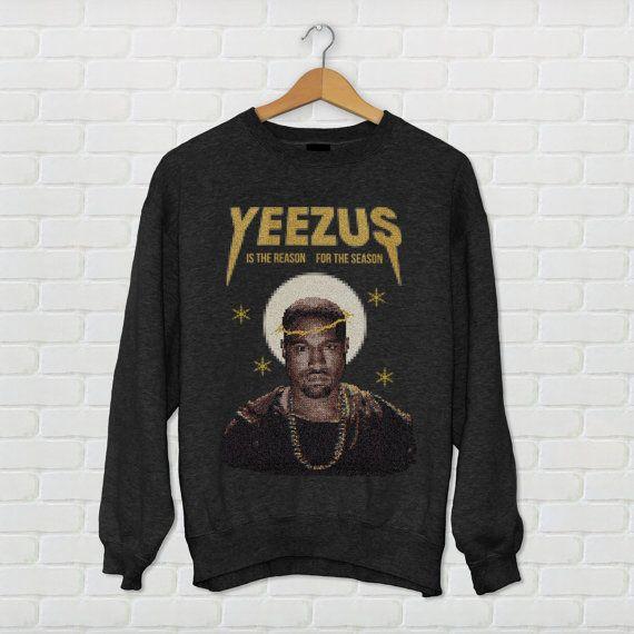 Kanye West Yeezus Ugly Christmas Sweater by KippCreations on Etsy ...