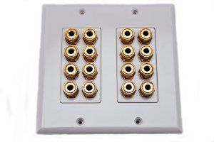 Banana Plug Wall Plate Fair Amazon Speaker Wall Plate 16 Post For 8 Speakers Dolby Sound Decorating Design