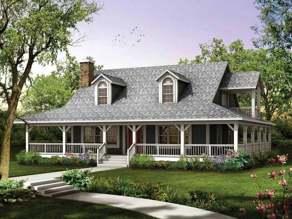 House design wrap around porch country farmhouse house