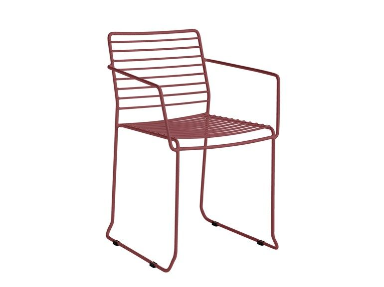 Tarifa Chair With Armrests By Isimar Chair Restaurant Chairs Steel Chair