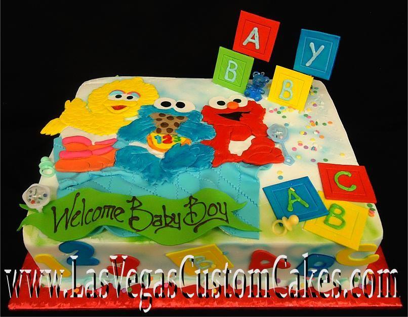 Baby Sesame Street Cake Las Vegas Custom Cakes Just For Our