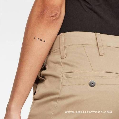 Henna Tattoo Für Jungs: 1999 Birth Year Temporary Tattoo, Get It Here ... (Little