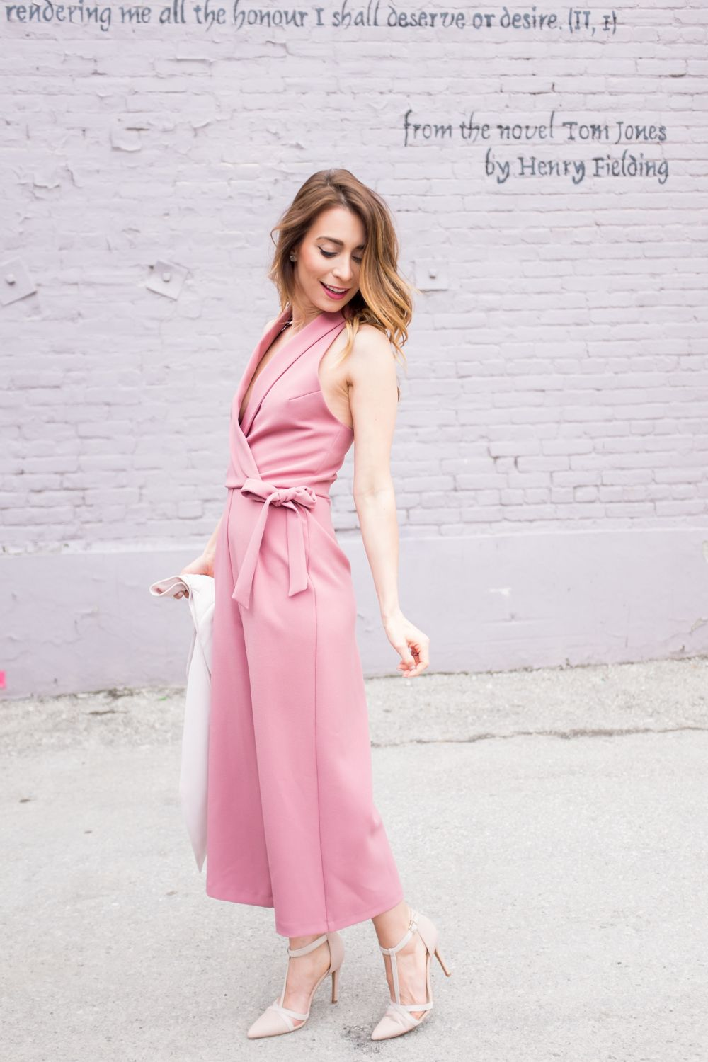 4e87b0e14fe0 OOTD - Pink Culottes Jumpsuit