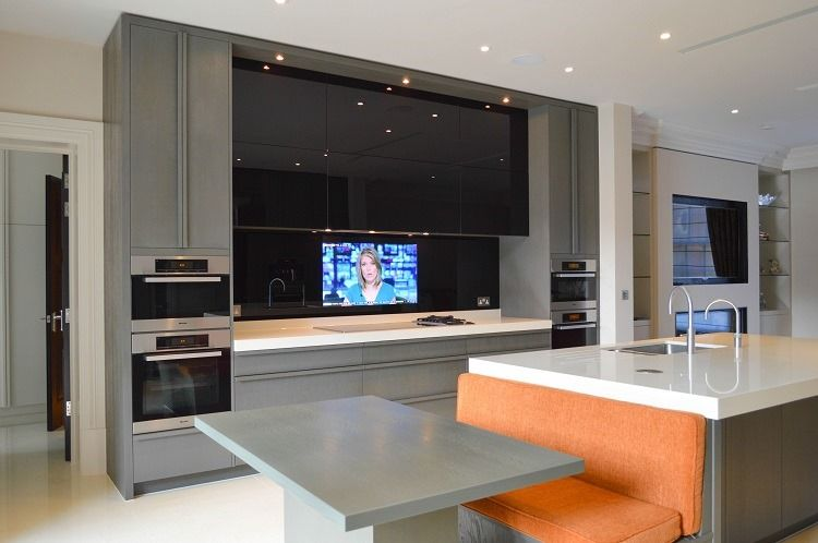 Kitchen Hide My Tv Innovative Solutions To Make Your Tv Disappear Kitchen Mirror Splashback Kitchen Mirror Tv In Kitchen