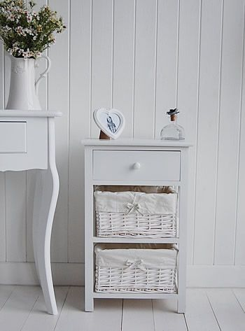 The White Cottage Bedside Tables, Range Of Sizes And Styles For Your  Country Cottage Bedroom