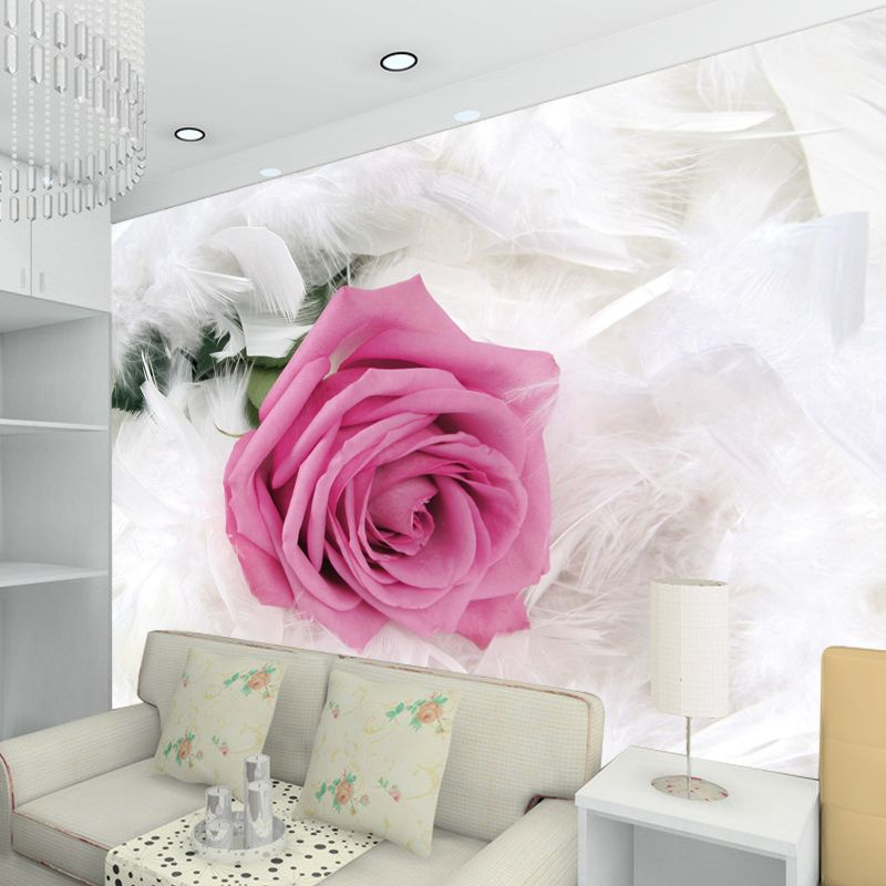 3d wallpaper for wall 3d tv background wallpaper goose feather rose ...