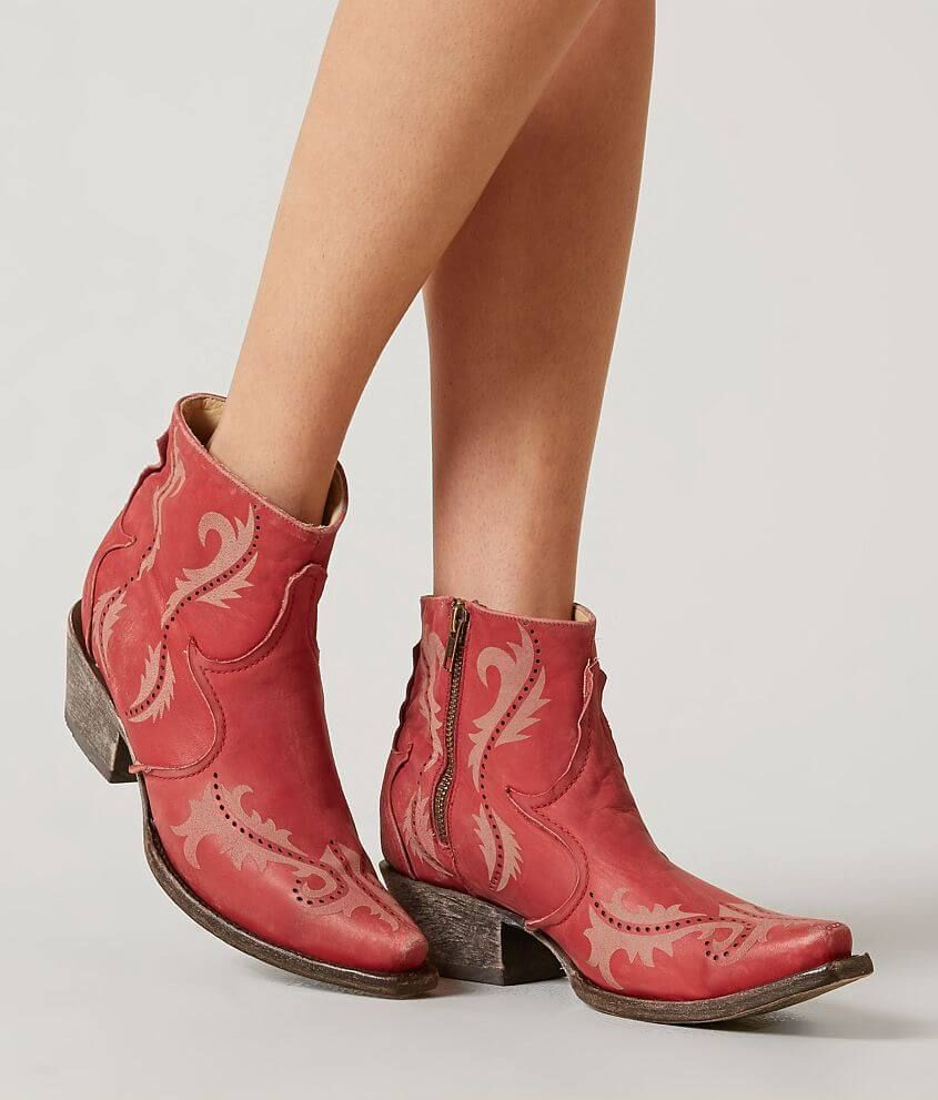 b32c747810d Corral Perforated Leather Western Ankle Boot - Women's | Products in ...