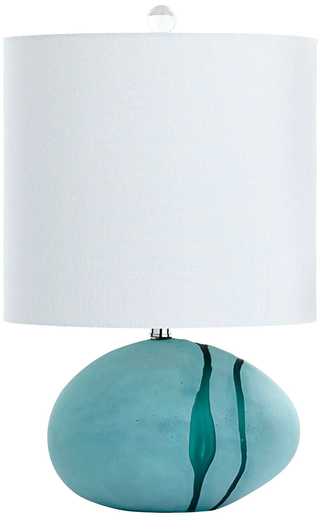 Blue glass table lamps  Terza Small SeaGreen Glass Light Table Lamp  Style  C