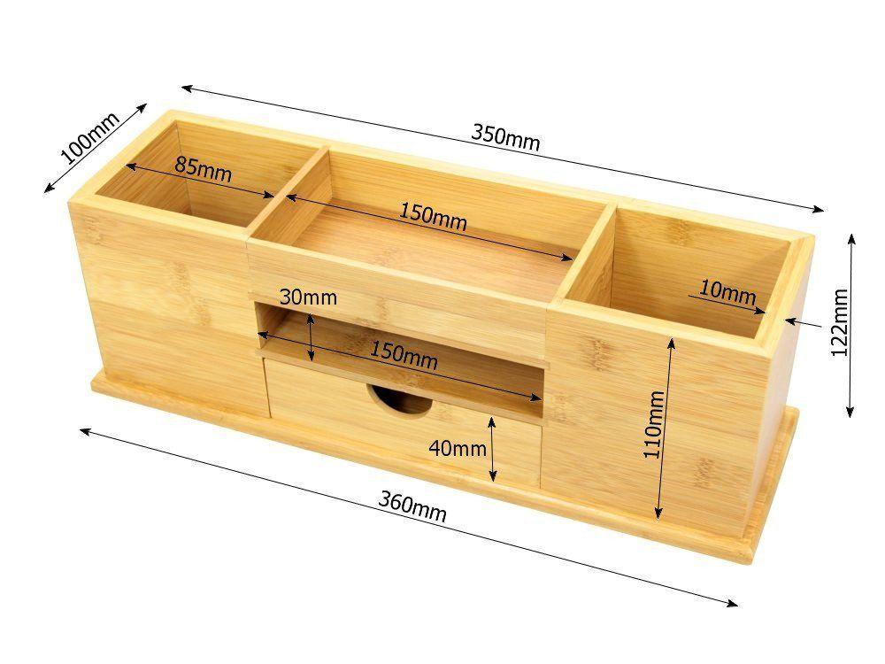 Organizador de papeler a para escritorio bamb 5 compartimentos organizadores y dispensadores - Papeleria de oficina ...