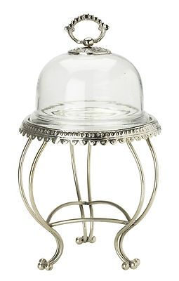 NEU Lisbeth Dahl Etagere mit Glasglocke Silver 35 cm hoch | eBay
