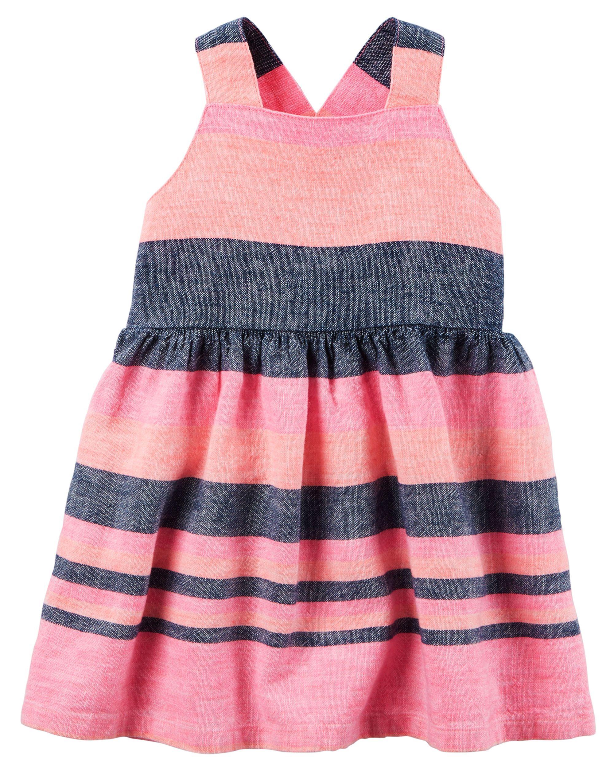Neon Striped Dress