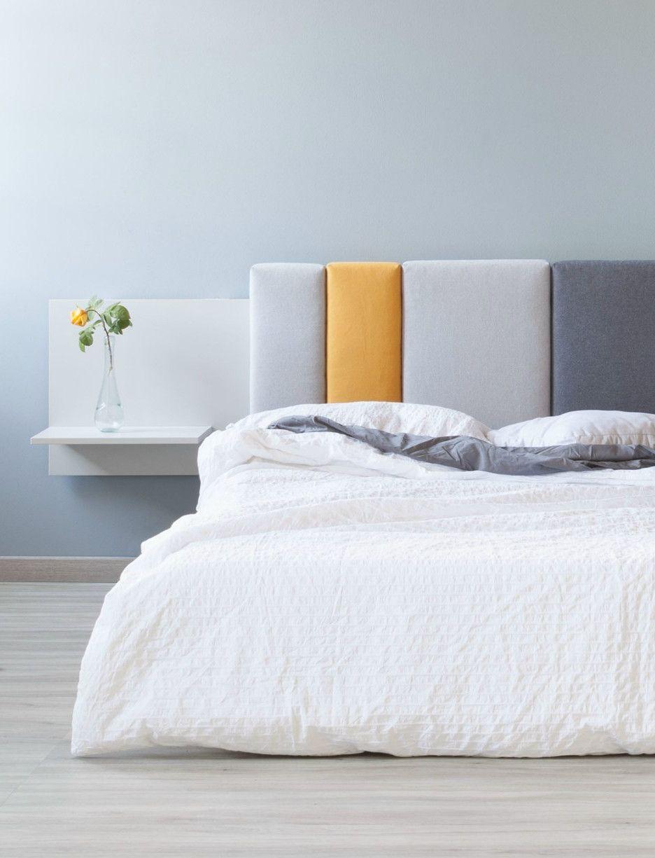 Comoditi la testiera letto modulare personalizzabile e for Letto minimalista