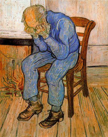 Le vieillard triste de Van Gogh, 1890 Vincent Van Gogh Pinterest