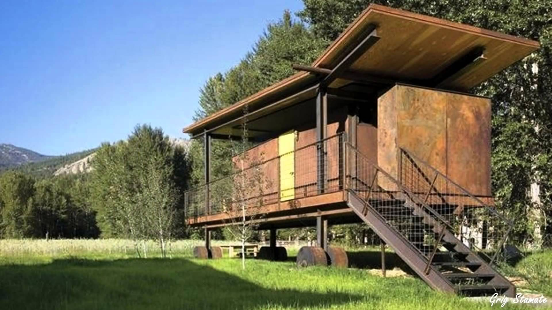 Single Container Home ShippingContainerHomes Alternative Green - All terrain cabin shipping container homes