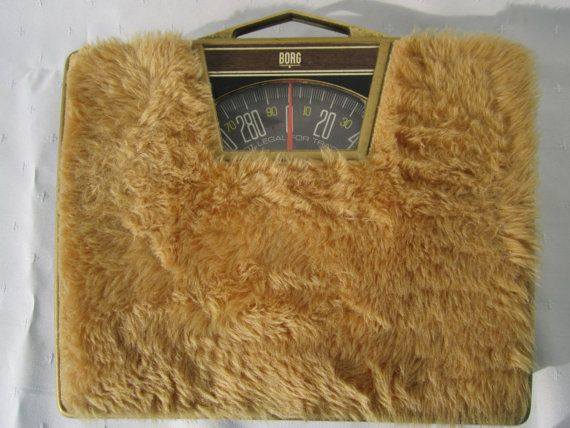Bathroom Scales Retro Home Decor Gold Carpeted By Goshenpickers