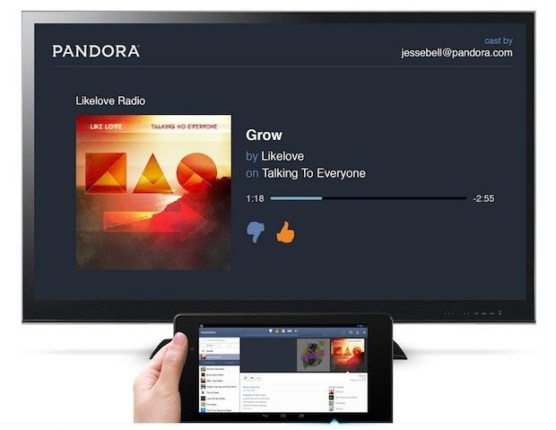 Pandora for Android adds Chromecast streaming (update