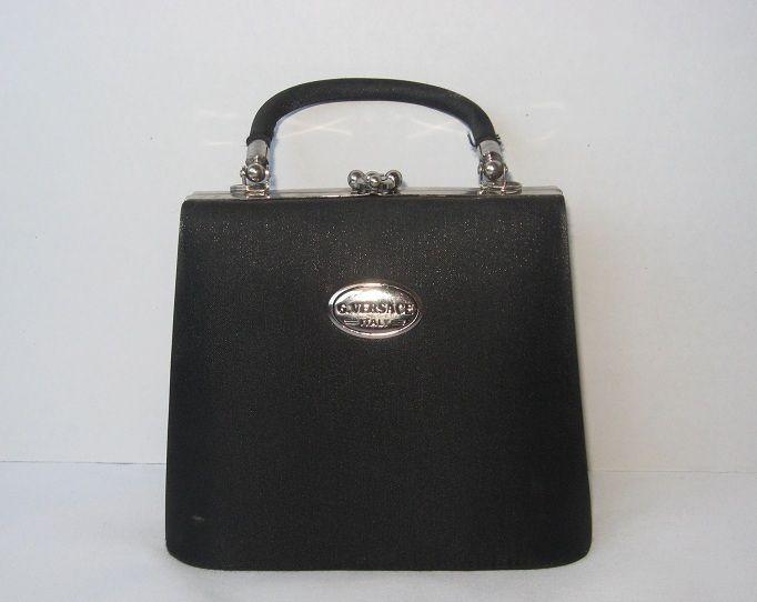 bef71a4d03d Vintage G. VERSACE Handbag Purse Evening Bag Black Satin Italy $20.00 at  #NewandDeJaVU #Bonanza store