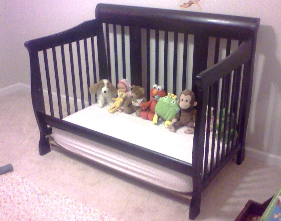 From Crib To Toddler Bed Diy Toddler Bed Toddler Bed Old Cribs