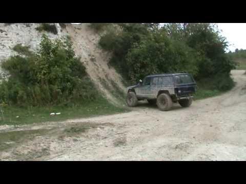 Jeep Climbs Jeep Cherokee Xj Off Road Devils Pit Hill Climb Rock