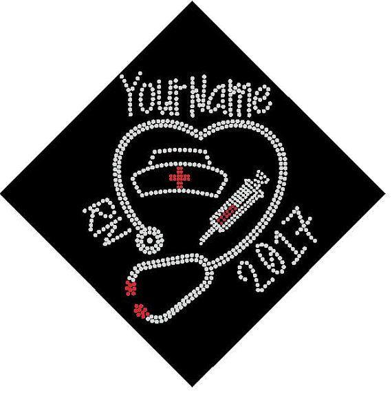 BSN RN LPN Nurse Graduation Cap Custom Name By