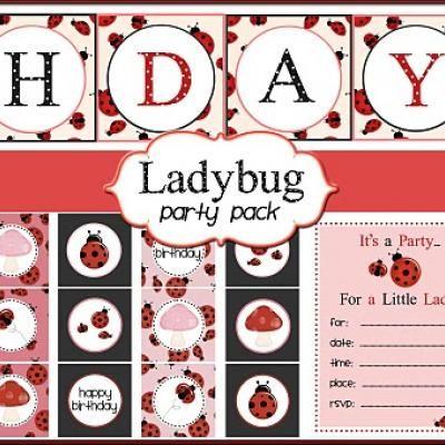 Ladybug Themed Birthday Party Printables {Free Stuff}