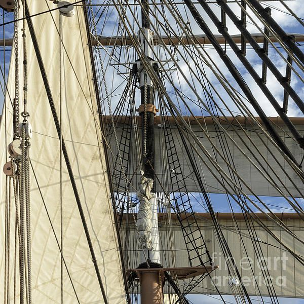 A wonderful wooden sailing ship in San Diego harbor. I love sailboats, tall ships and California so the chance to photograph this beautiful vessel was certainly a thrill! #tallships #homedecor #California