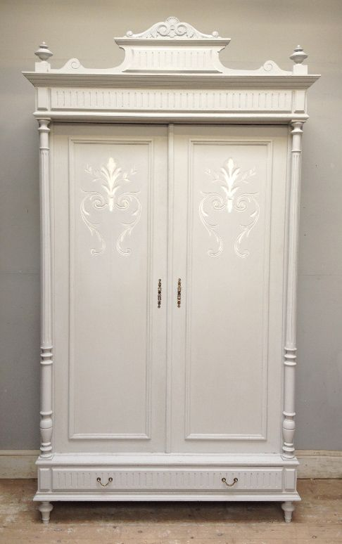 Genial ANTIQUE FRENCH DOUBLE DOOR ARMOIRE   HENRI II STYLE Price £1195