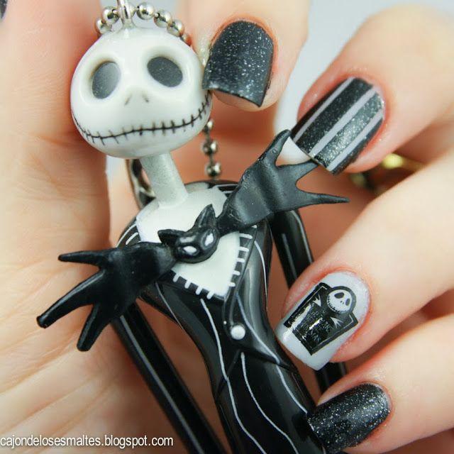 Decoración de uñas / nail art para Halloween - The Nightmare before ...