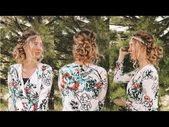 Twist hairstyle with curly side bun (weddingChurch or prom hairstyle)  YouTube #weddingsidebuns