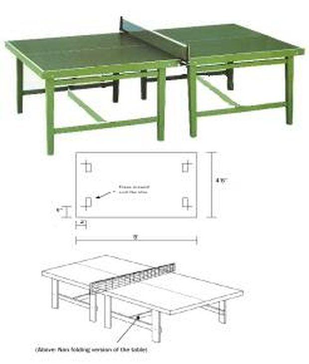 330a9ff45 Cómo diseñar una mesa de ping pong con planos