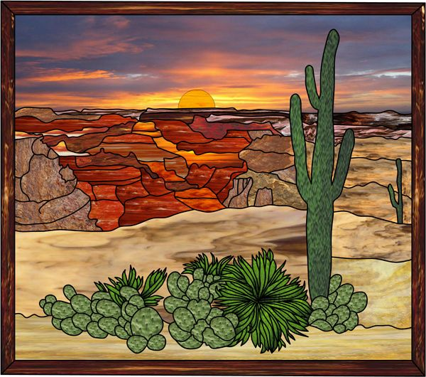 Cactus+Stained+Glass | stained glass az to repair existing ...