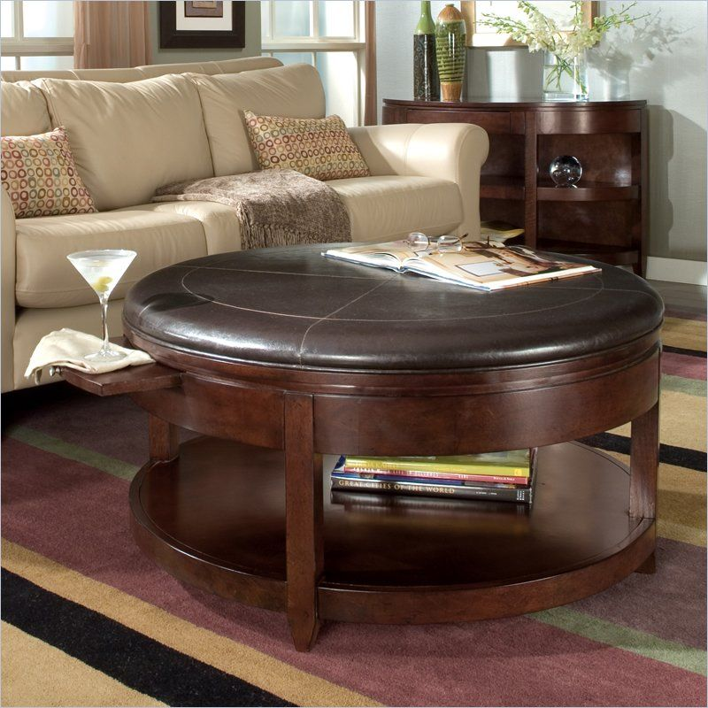 Magnussen Brunswick Round Cocktail Table with Casters | Living Room ...