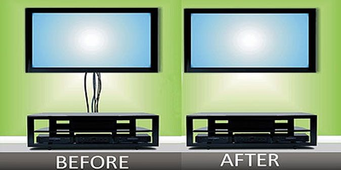 how to hide tv wires for a wall mounted tv firefold hide wires rh pinterest com wiring wall mounted tv ideas wiring needed for wall mounted tv