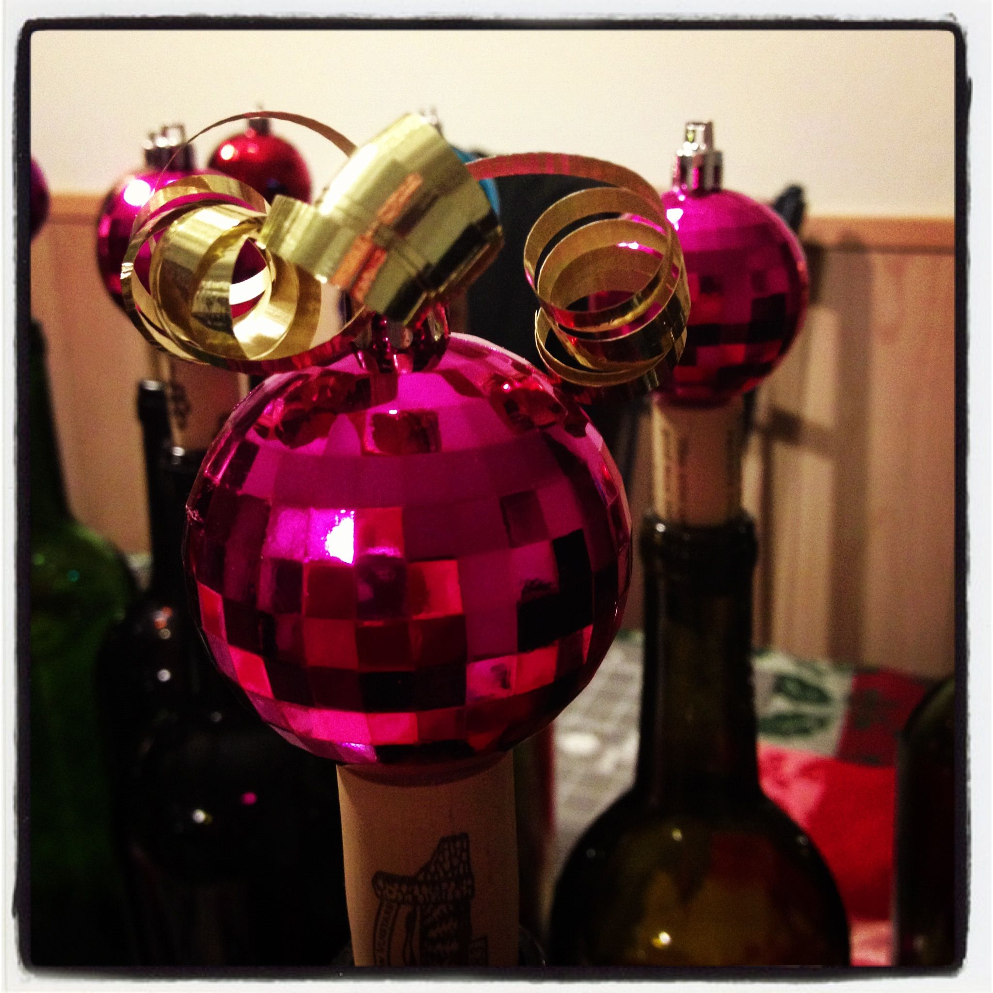 Curl The Ribbon With Some Scissors Wine Bottle Decor Wine Bottle Chandelier Wine Bottle