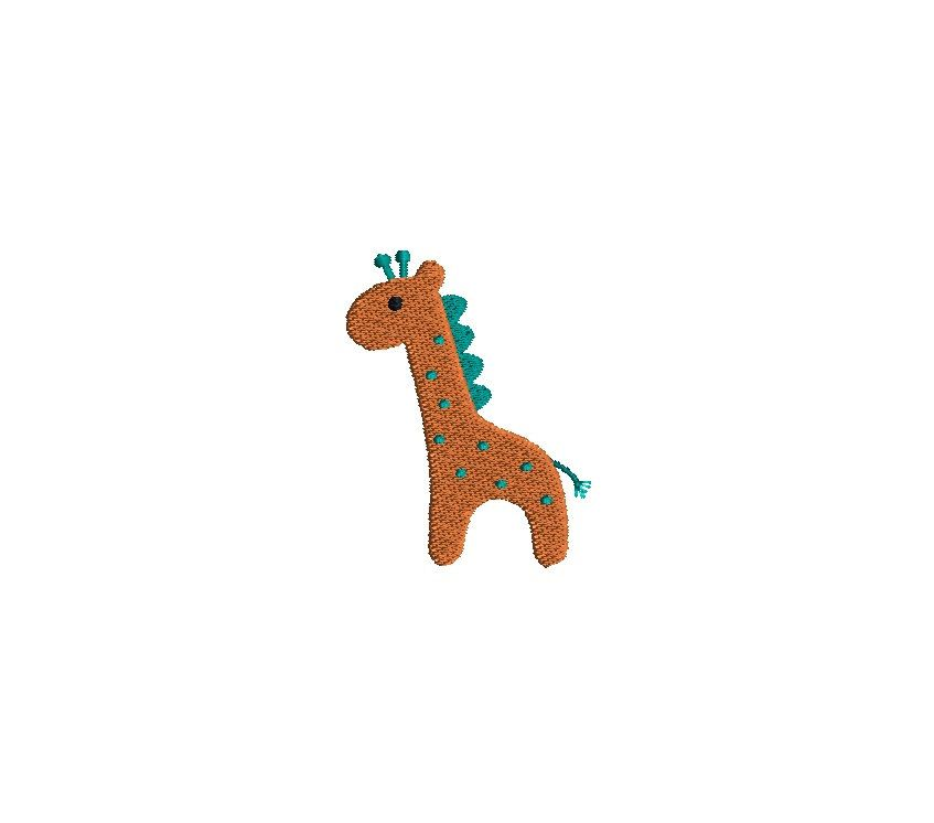 Mini Giraffe Machine Embroidery Design-INSTANT DOWNLOAD by SewChaCha on Etsy