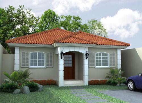 pintura exterior fachadas casas techos rojos buscar con google - Fotos De Fachadas De Casas
