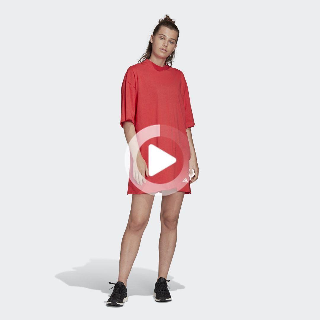 riciclata cotone oversize t-shirt-kleid | abiti, abiti