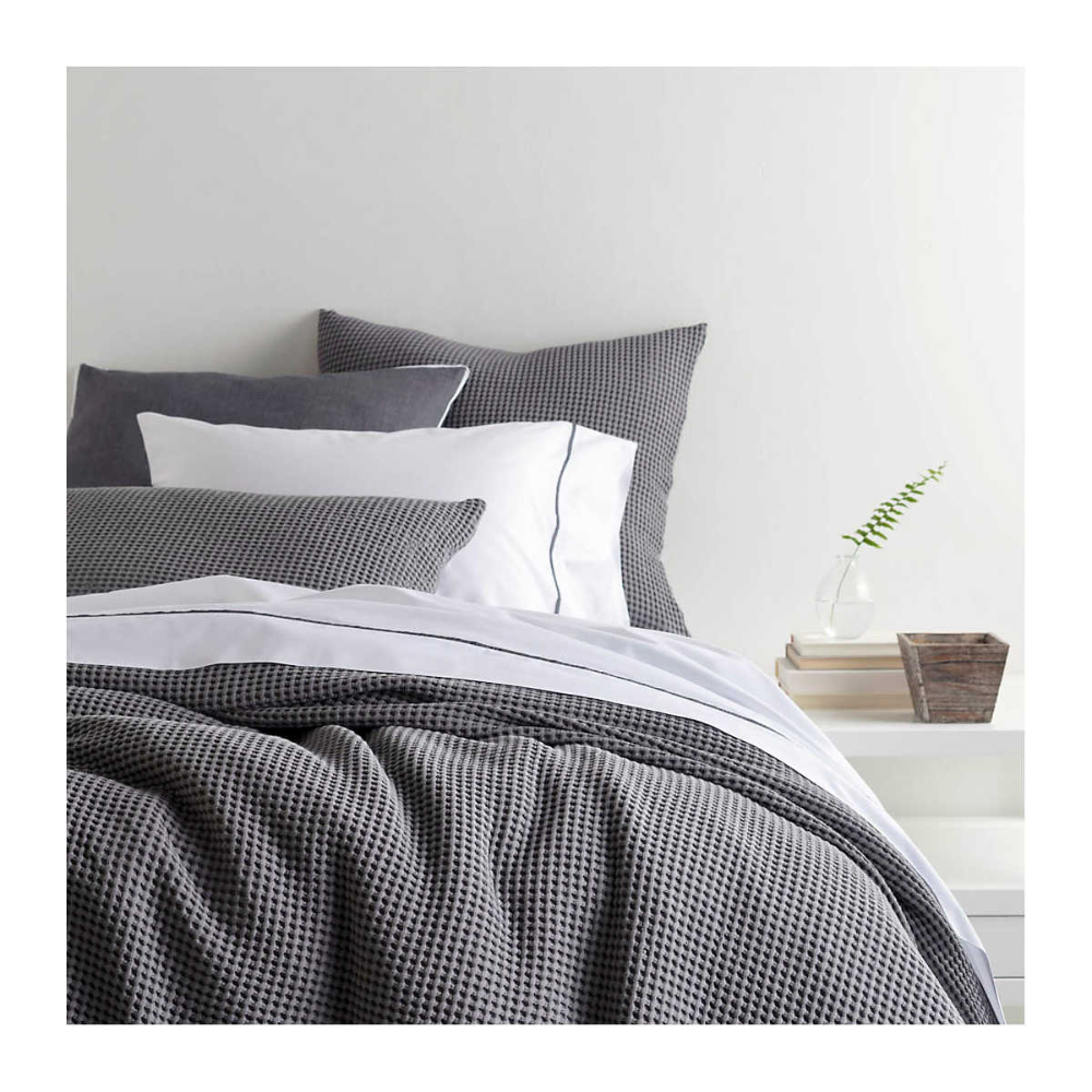 Bubble Grey Matelassé Coverlet Pine Cone Hill