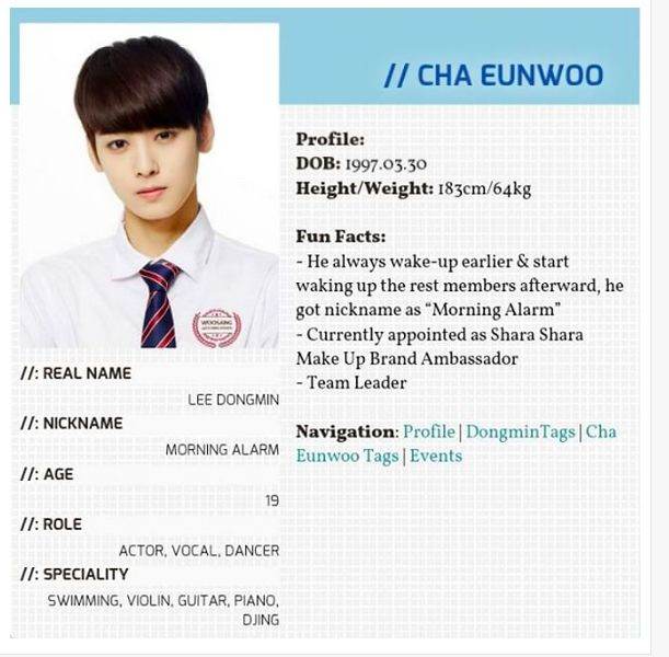 Eunwoo Never Give Up On The Lovely Things That Make You Happy Jinjin Is The Actual Group Leader Astro Kpop Astro Member Profile Astro
