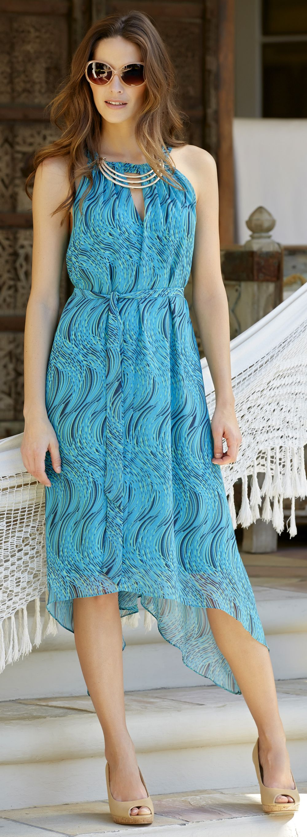 Casual Tea Length Mother Of The Bride Dress Click To