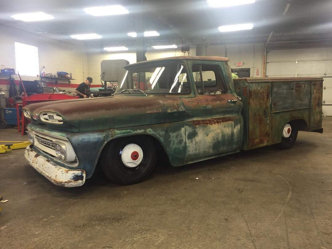 Pickup 61 chevy pickup : Lifelong California Utility truck finally got its Stop,Drop ...