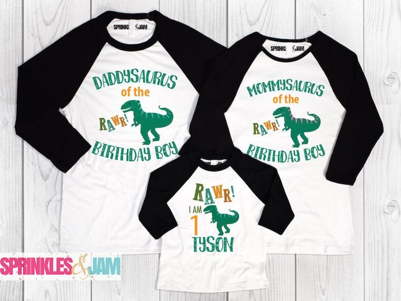 Dinosaur Birthday Shirts Family Matching Dinosaur