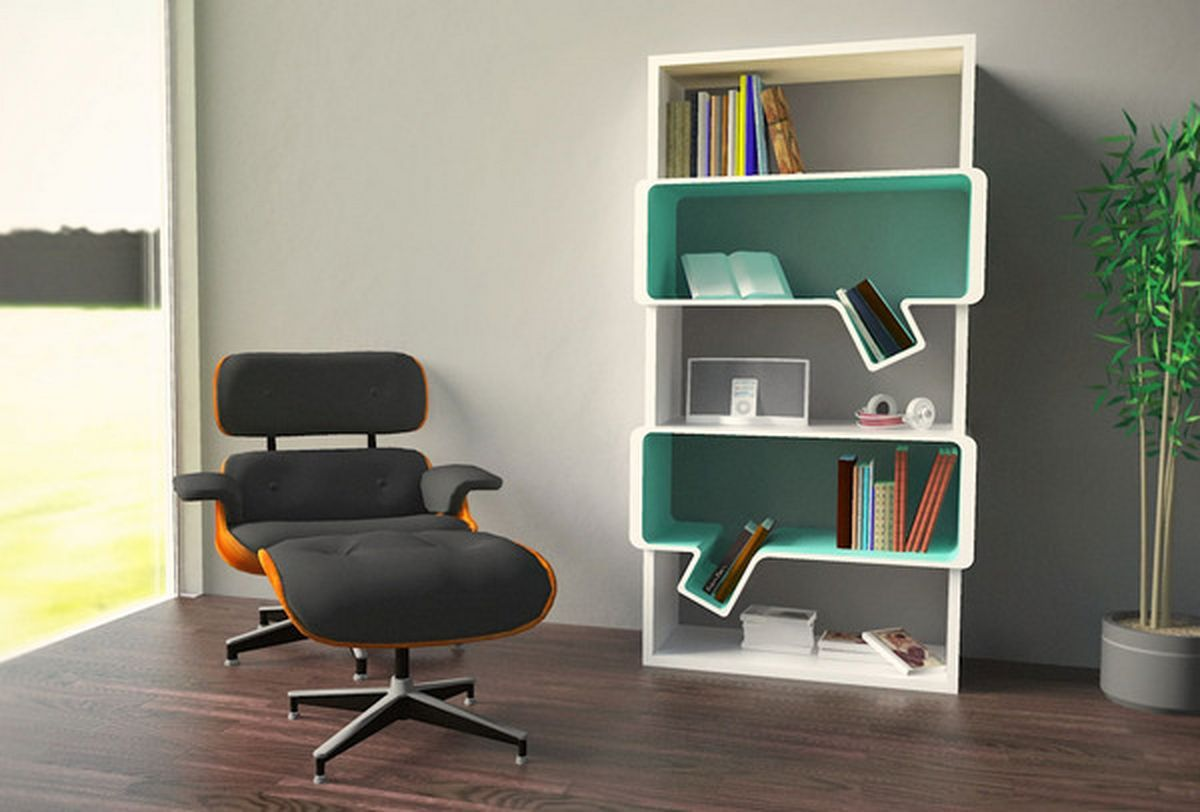 Simple and creative bookshelves design home design - Minimalist home design inspiration ...
