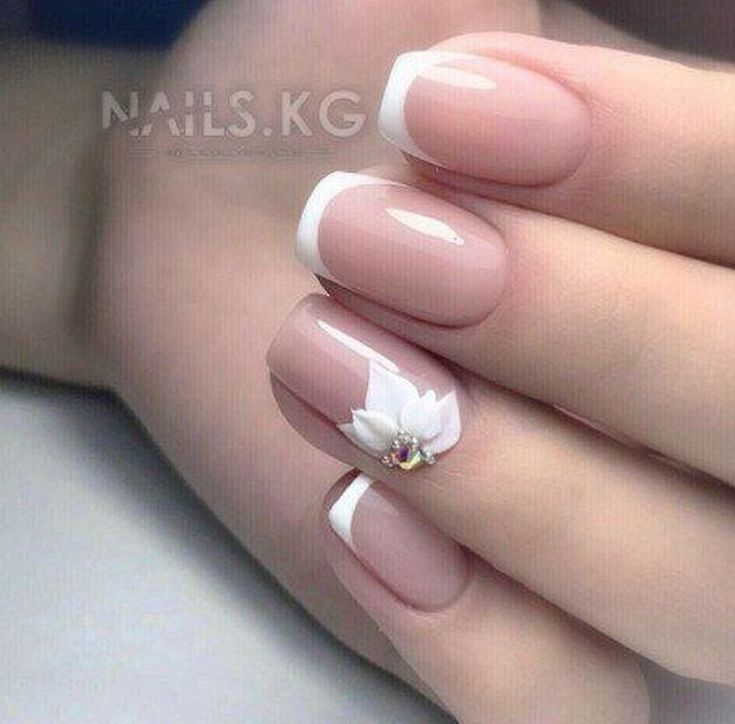 20+ Beautiful Wedding Nail Art Designs With French Style