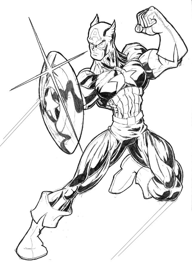 The Avenger Captain America Coloring Page Art Pinterest Capt - fresh coloring pages printable avengers