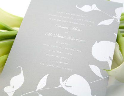 calla lily wedding invitations - wedding invitation, Wedding invitations